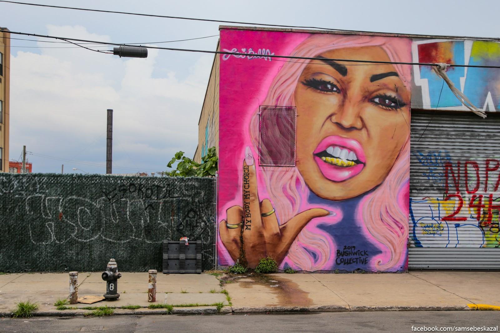 Graffiti v Busvike.