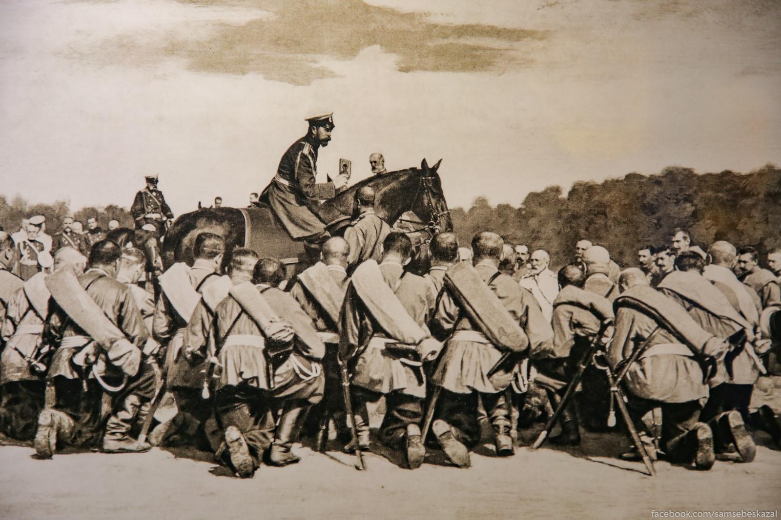 Vojska pered otpravkoj na Russko-Aponskuu vojnu, 1904 god. Foto znamenitogo peterburgskogo fotografa Karla Karlovica Bulla.