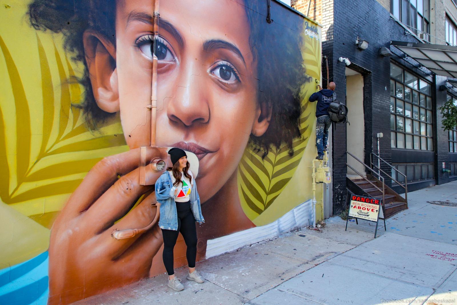 Graffiti v Busvike, Bruklin.