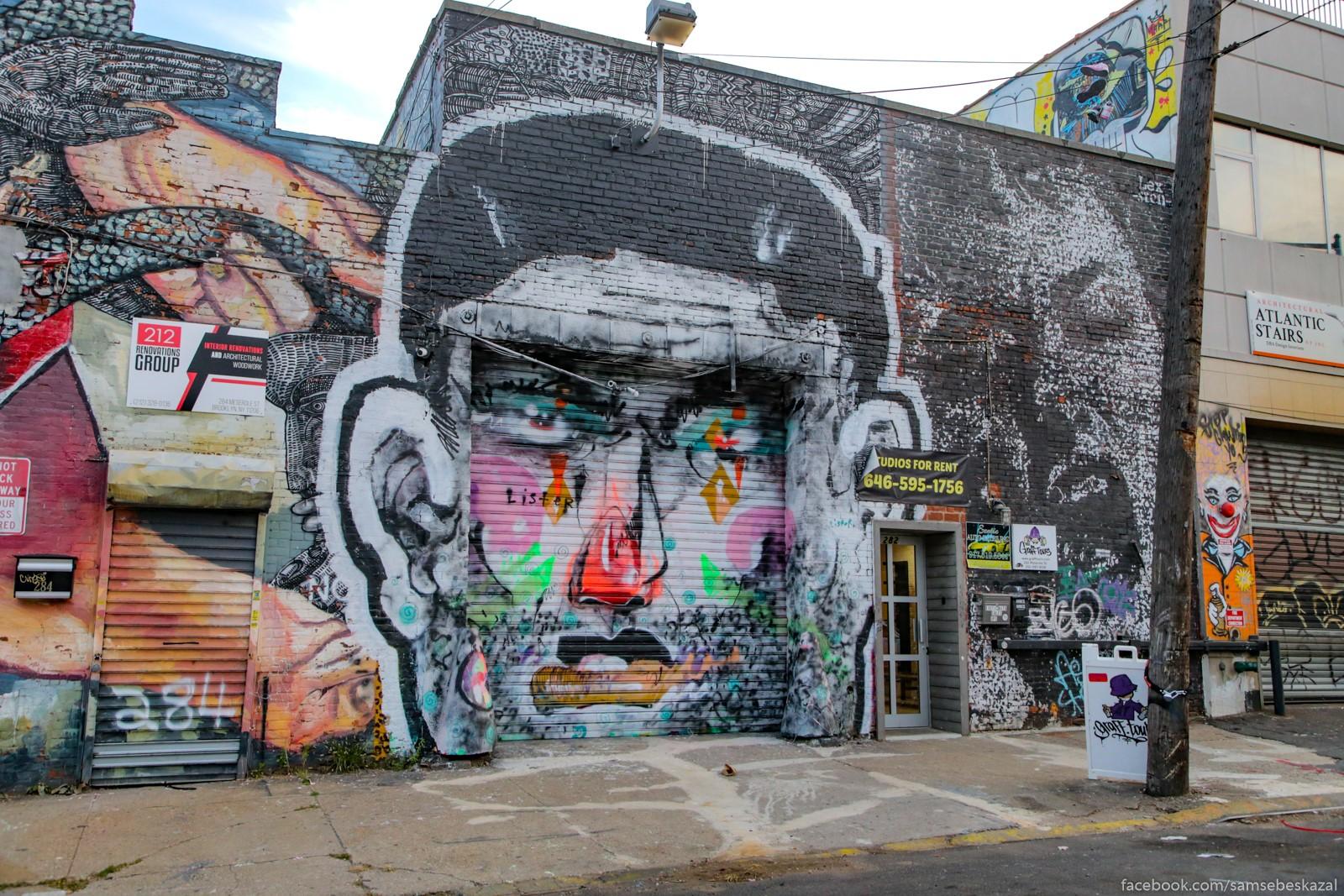 Stena zdanie v Busvike, Bruklin.