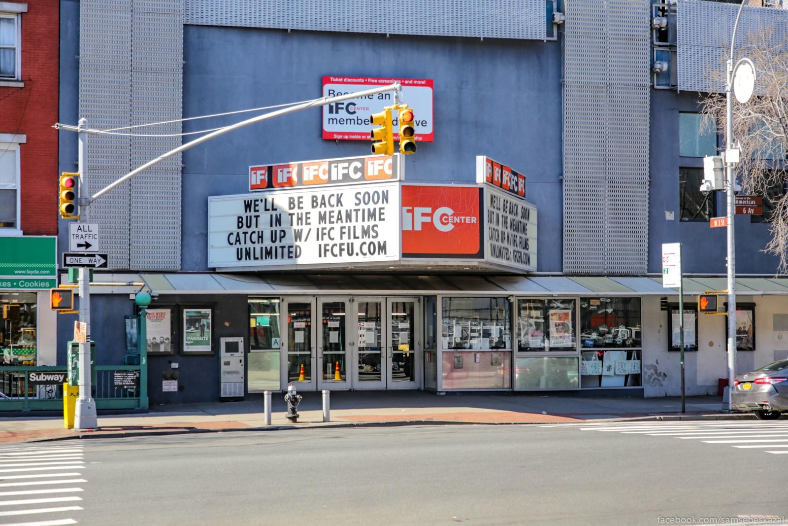 Kinoteatry zakryty....