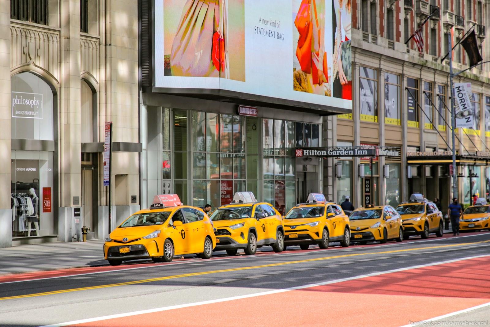 Taksisty prostaivaut bez raboty. 42-a ulica.