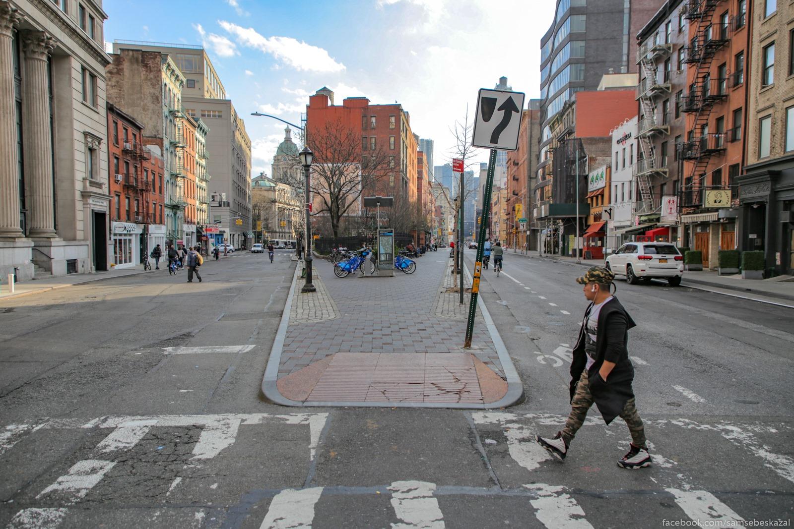 Na ulice pesehodov i velosipedistov v razy bolʹse cem masin.