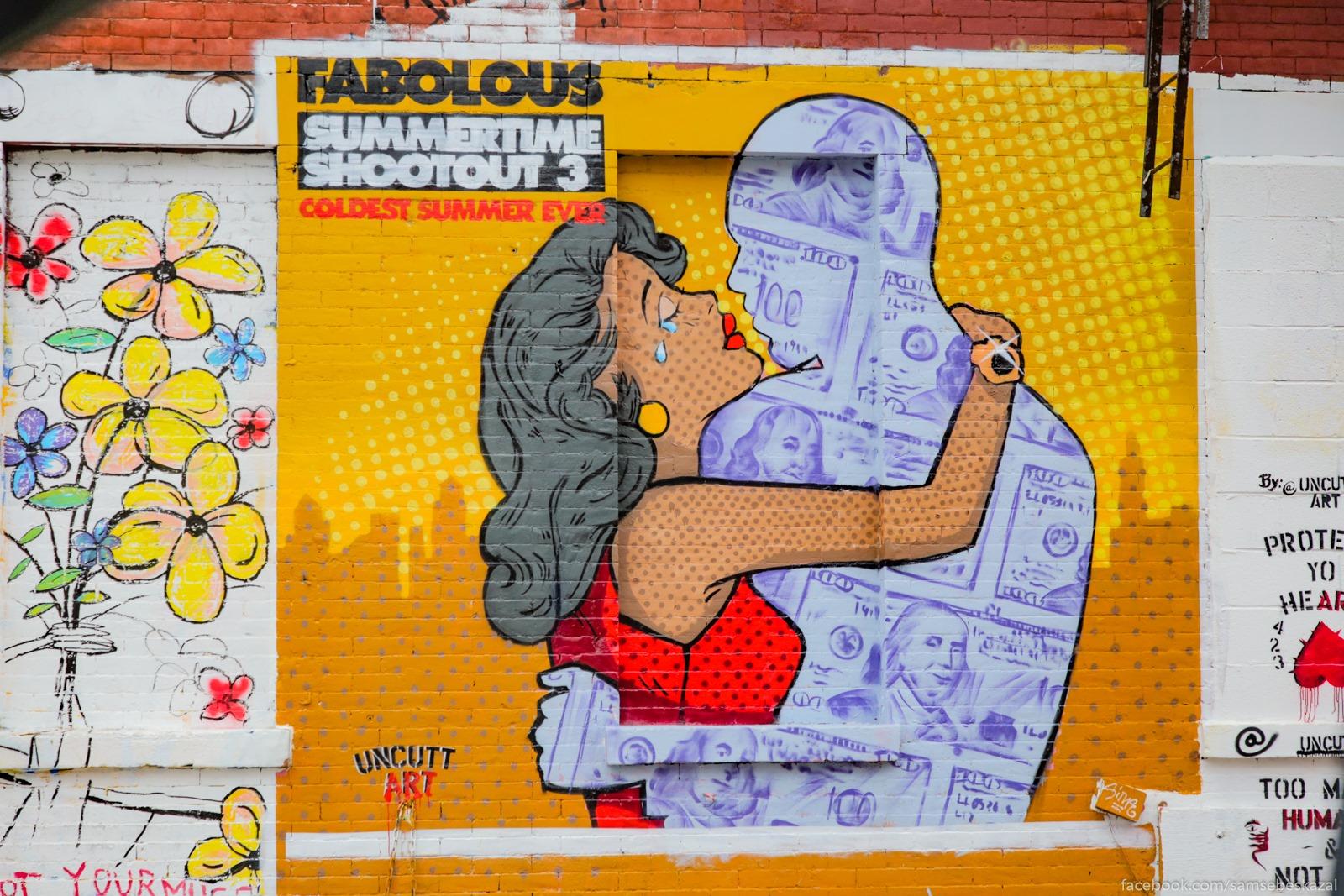 Graffiti v Brukline.