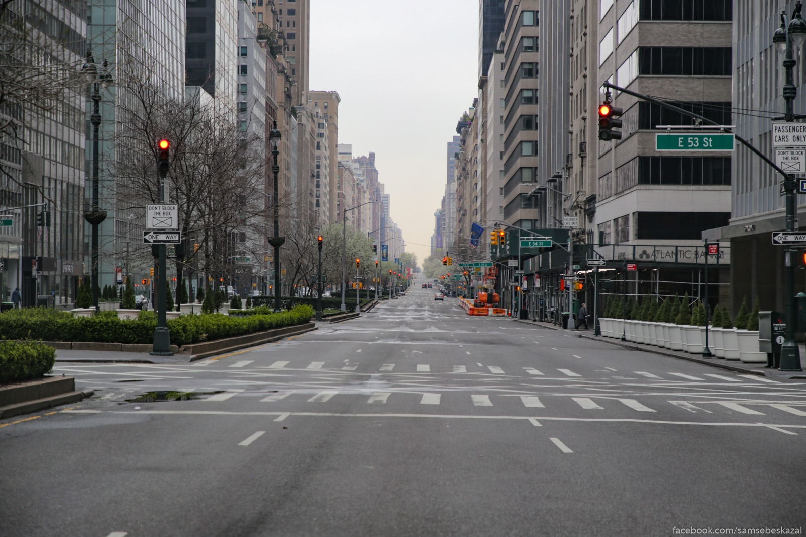 Нью-Йорк/Нью-Джерси, 30 марта Park-avenu v sredine...