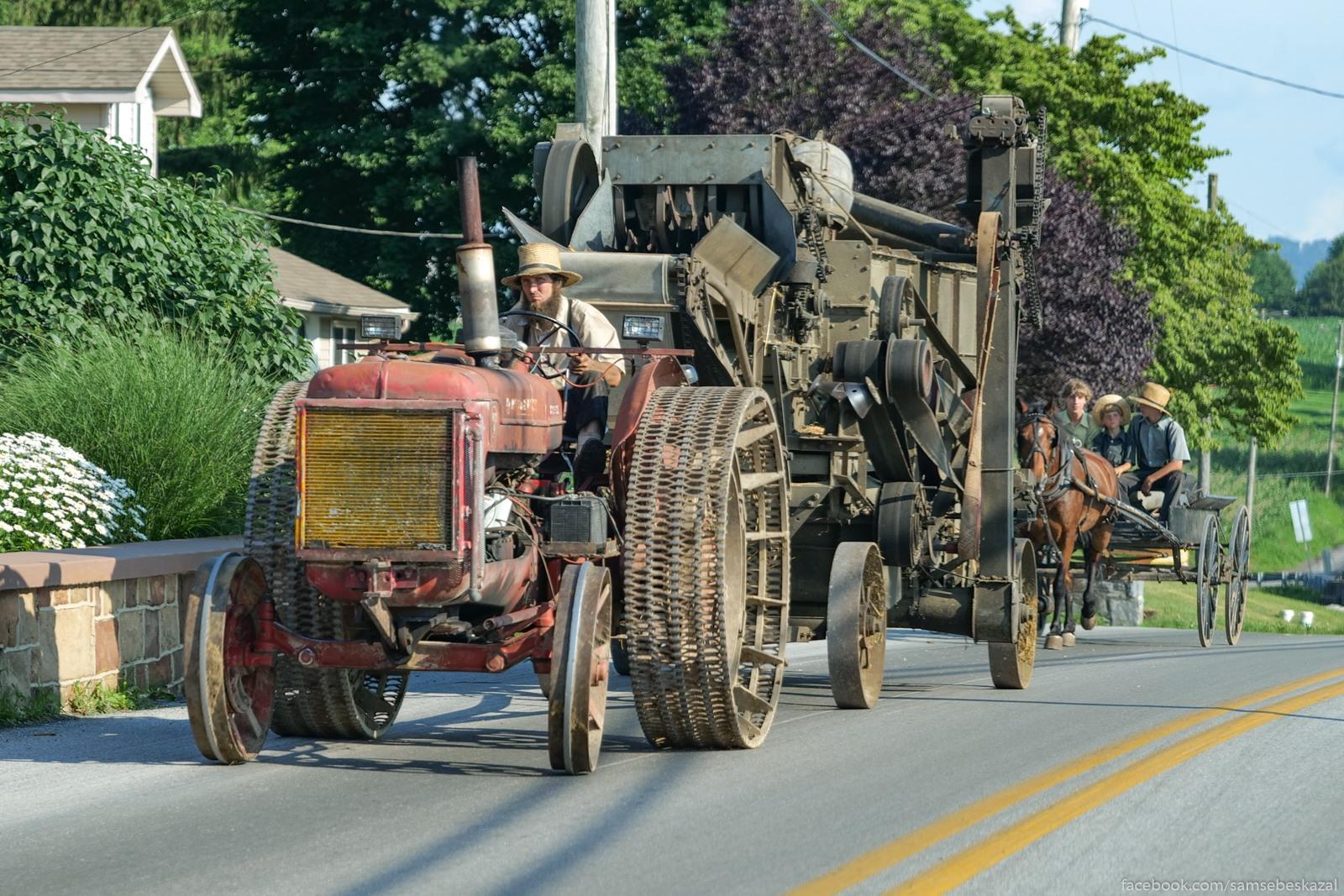 Amis edet na traktore...