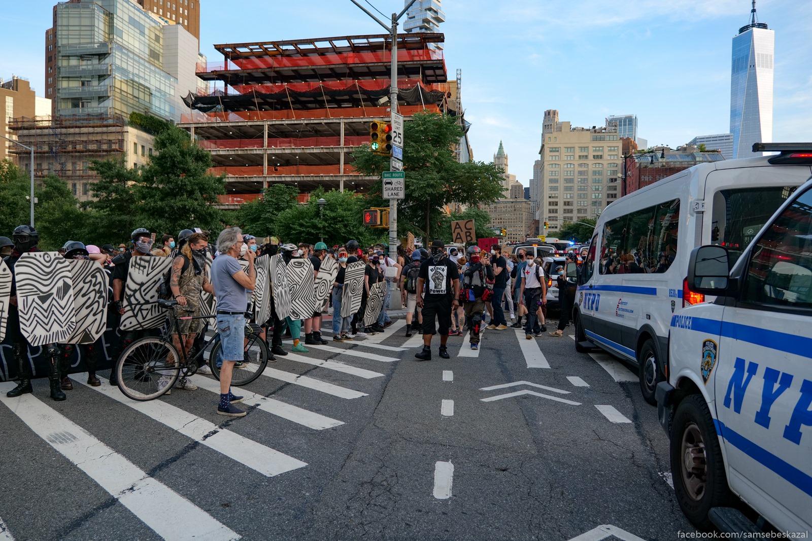 Два месяца с начала протестов в Нью-Йорке Protivostoanie na...