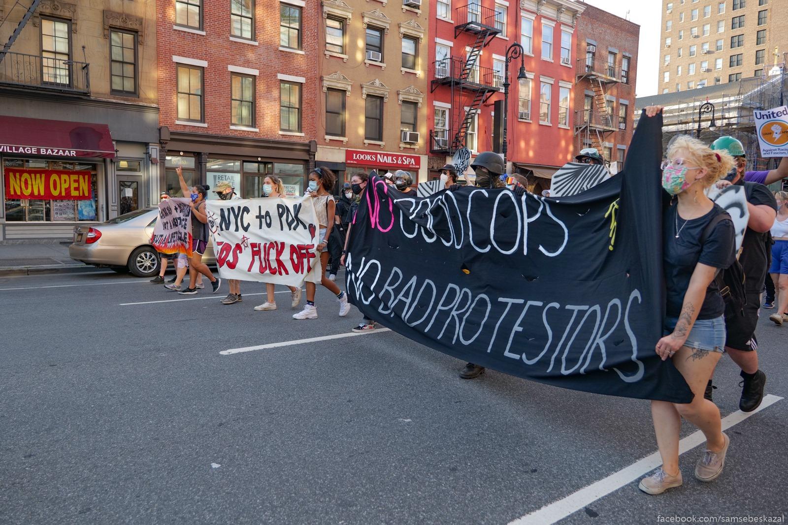 Два месяца с начала протестов в Нью-Йорке Kolonna idet po Sestoj...