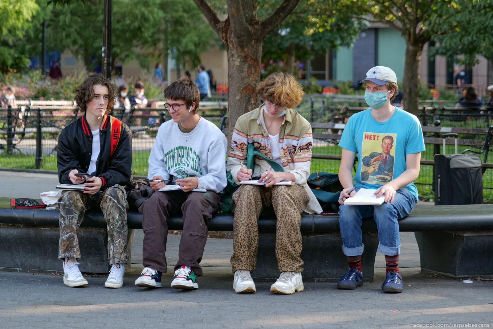 Жители Нью-Йорка Net! Vasington-skver park.