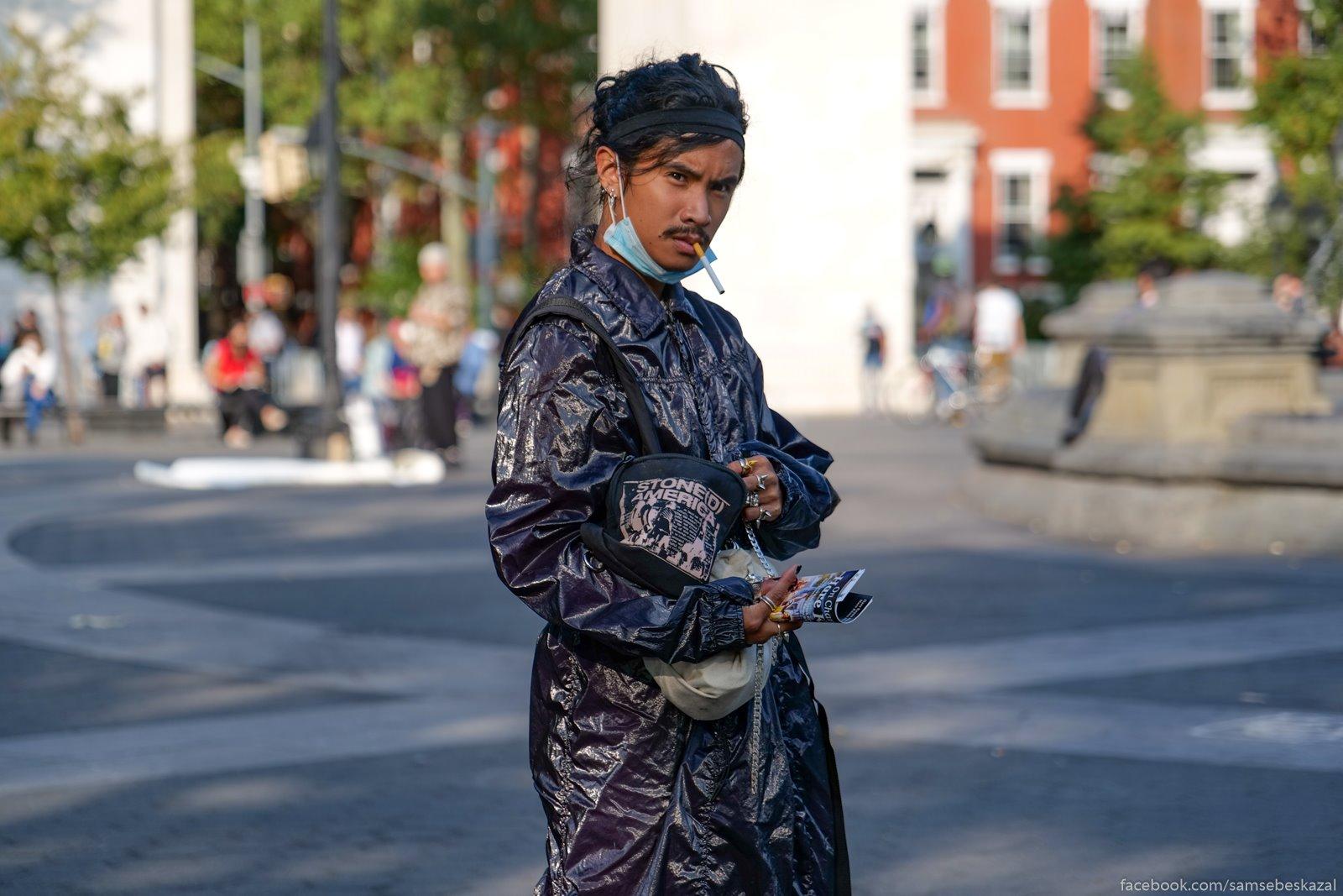 Жители Нью-Йорка Vasington-skver park.