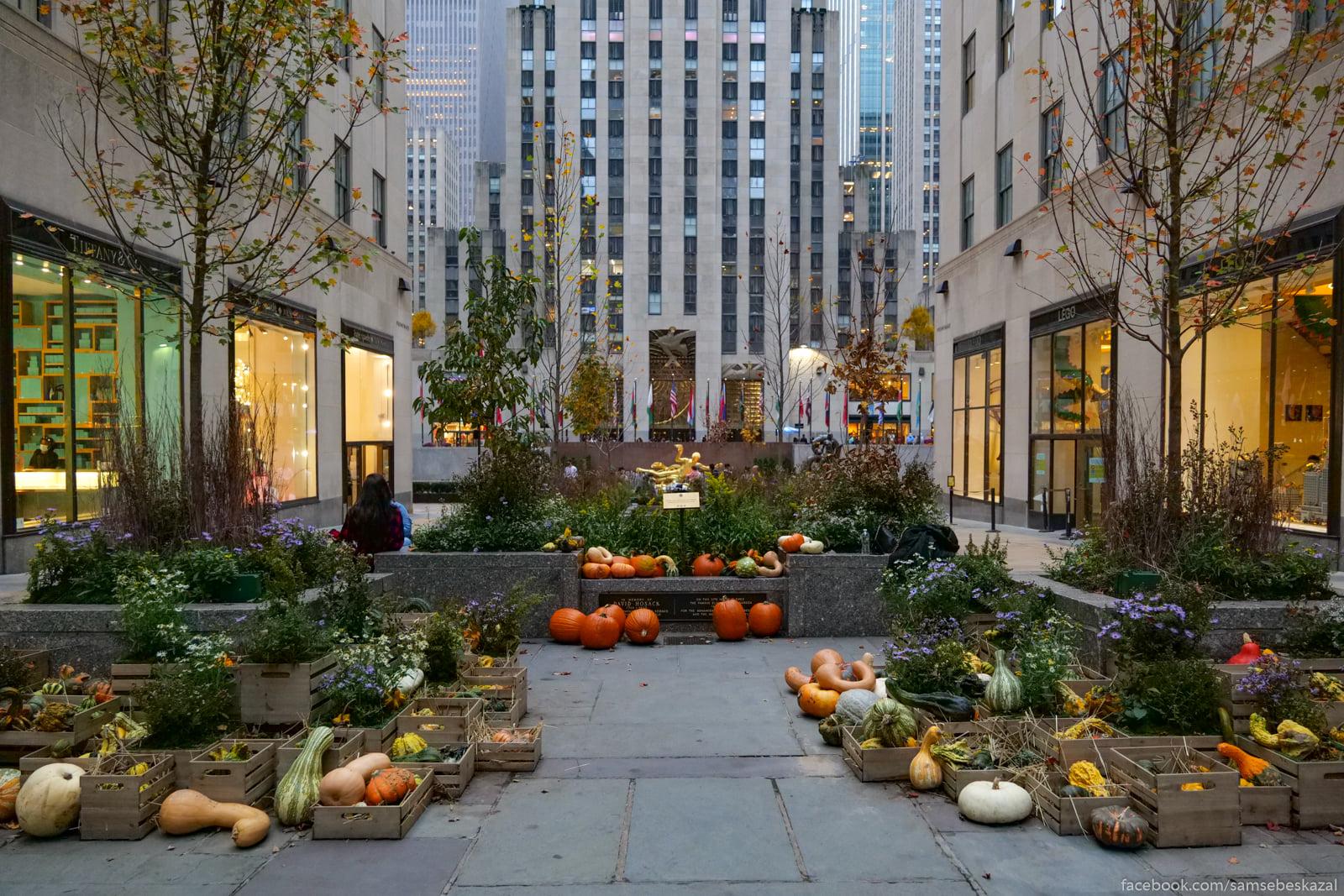 Нью-Йорк, 22 октября 2020 года V Rokfellerovskom centre...