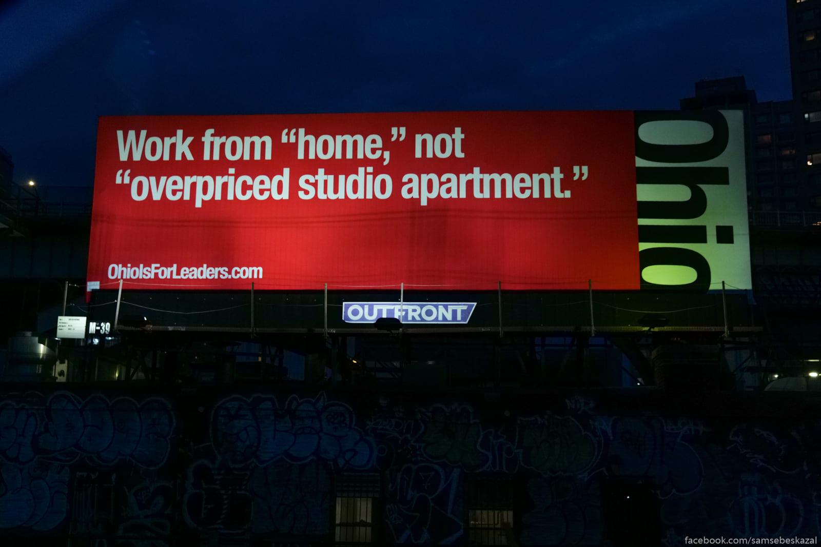 Reklama Ogajo v N'u-Jorke s...